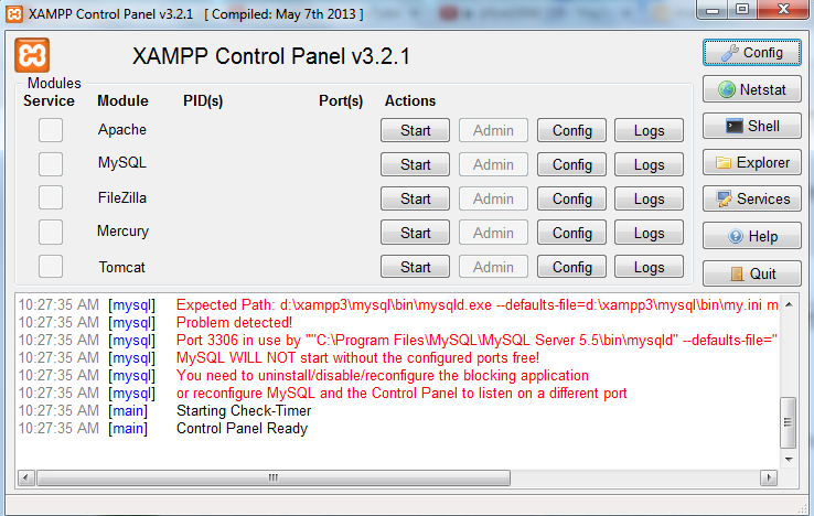 php - XAMPP Problem (beginner) [SOLVED] | DaniWeb