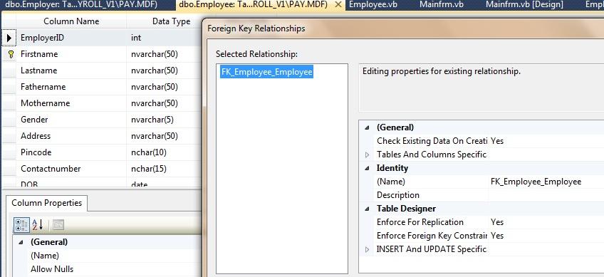 FK_relationship_Employee_table