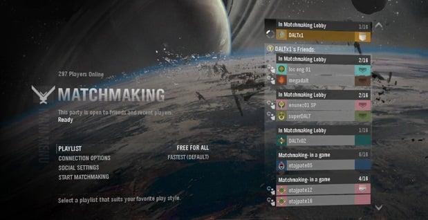 Halo Reach serveur matchmaking vers le bas