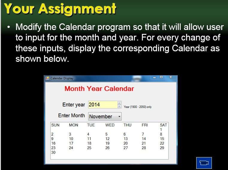 Calendar with listbox in vb net | DaniWeb