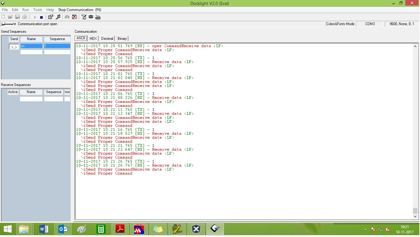 programming - Receive hex data and string using UART communication